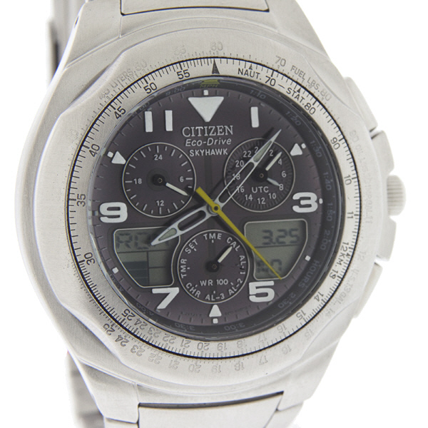 MENS CITIZEN SKYHAWK CHRONOGRAPH ECO-DRIVE WATCH JR3000 ...